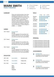 Project Manager Resume Templates   Chelshartman.me