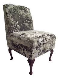 Silver Bedroom Chair Bedroom Chair In Dream Grey Soft Crushed Velvet Fabric On Queen