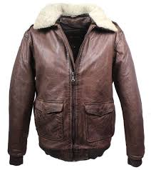 leather jacket mytic pilot style lambskin leather vintage brown