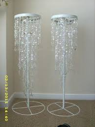 diy chandelier centerpiece crystal iridescent beaded chandelier and stand wedding bling ceremony chandelier crystal diamond iridescent