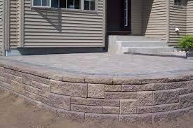 retaining wall blocks raised patio