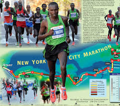 Geoffrey Mutais New York Marathon Course Record By The Map