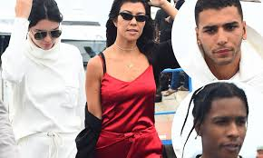 Kendall Jenner and Kourtney Kardashian leave Cannes | Daily Mail ...