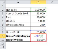 Gross Profit Margin Formula Percentage Calculator Excel