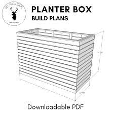 diy deep slatted planter box raised