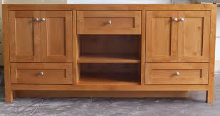 shaker style bathroom cabinets. Shaker Style Doors. 5-Piece Drawer Fronts. Open Storage. Adjustable Shelf. Custom Stain Color: Cinnamon + 50% Thinner. Bathroom Cabinets ,