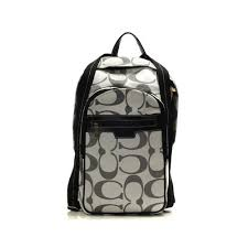 Coach Bleecker Monogram Medium Grey Backpacks DHL