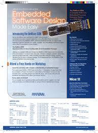 Nios Ii Embedded Design Suite Arrow Altera The Bemicro Sdk Embedded Software Design