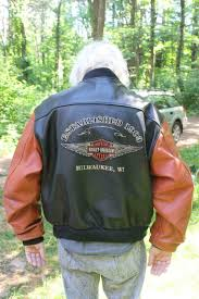 vintage genuine harley davidson all leather jacket xl uncommon red black vg cond