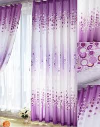 Pretty Bedroom Curtains Light Purple Curtains With Bubble Pattern On Steel Rod Plus Glass