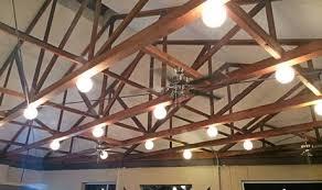 exposed decorative truss ceiling diy lighting14 truss