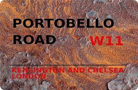 Amazon.de: Blechschild London Street Sign Portobello Road Kensington &  Chelsea W11 Rust Metallschild
