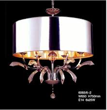 big silver round shade crystal pendant chandelier