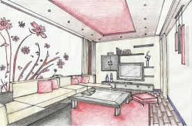 interior design bedroom drawings. Easy Interior Design Sketches With An Of A Living Room Contrasting Colours Bedroom Drawings