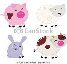 cute farm animals drawings.  Farm Cute Farm Animals Set Isolated On White  Csp8970184 On Farm Animals Drawings L