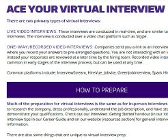hirevue interview questions ace your virtual interview career internship center university