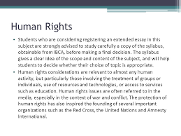 international baccalaureate the extended essay ppt human rights