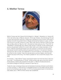life of mother teresa essay mother teresa essays