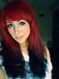Reverse Red Ombre Hair Is This