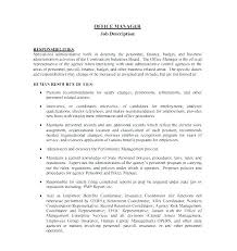 Project Manager Job Description Project Management Roles And Responsibilities Template