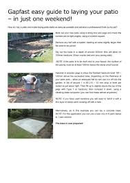 gapfast easy guide to laying your patio