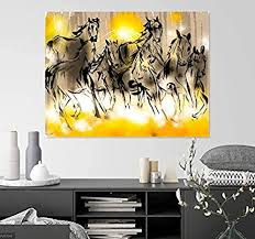 923 results for feng shui wall decor. Amazon Com Shsworks Fengshui Seven Running Horses Wall Art Canvas Painting Signed By Artist For Living Room Bedroom Home Office Decor Artwork 23x30 Inch Unframed Digital Reprint Posters Prints