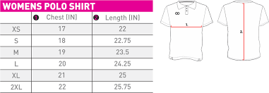 Polo Shirt Size Chart Sizing V2 Wooter Apparel Team Uniforms And Custom Sportswear