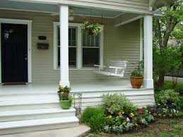Plush Front Porch Front Porch Design Together With Maple Wood
