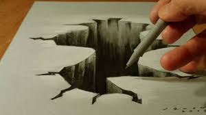 how to draw hole drawing 3d hole trick art on paper vamos you