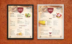 Restaurant Menu Design Templates 40 Effective Psd Restaurant Menu Design Templates Web Graphic