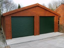 wood double garage door. Double Garage With Roller Door Wood
