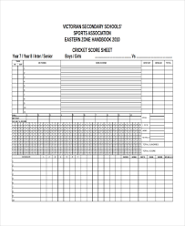Cricket Score Card Format Score Sheet Templates 26 Free Word Excel Pdf Document