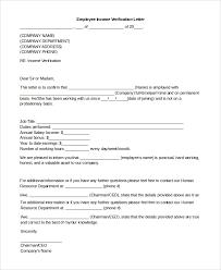 Sample Income Verification Letter Beauteous 48 Sample Income Verification Letters Sample Templates