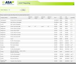Report Sample Product Inventory Report Asap