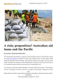 Dfat Org Chart A Risky Proposition Australian Aid Loans And The Pacific