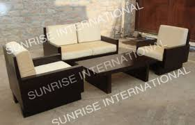 contemporary wood sofa. Sunrise International Contemporary Wooden Sofa Set 2 + 1 Center Table With Armrest Price In India | Compare Prices Wood T