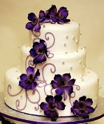 beautiful white and purple wedding cakes. Purple Spring Outdoor Wedding Ideas Cakes Could Do With Yellow And Grey Flowers On Beautiful White