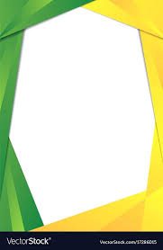 Picture Frame Border Green And Yellow Triangle Frame Border Vector