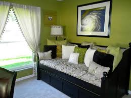 Modern Black And White And Green Bedroom White Green Black Bedroom