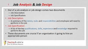 Job Analysis VCE Business Management Job Analysis Design YouTube 22
