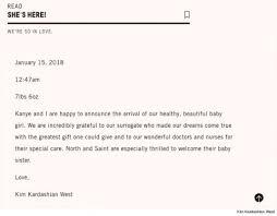 Welcoming Baby Girl Kanye West Kim Kardashian Welcome Baby Girl