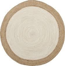 safavieh natural fibers jute 5 nf801m 3 round ivory natural rug