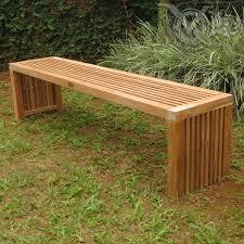 backless garden bench lovable outdoor bench backless fsc certified teak curved backless