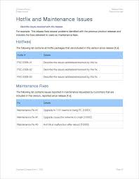 Release Notes Template (Apple Iwork Pages/numbers) | Templates ...