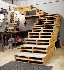 furniture of pallets. furniture for your office a stair from double pallets of e