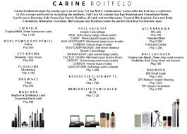 mac carine roitfeld collection