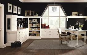 black and white home office. View In Gallery Black And White Create The Perfect Contrast Home Office [From: MasterBrand Cabinets E