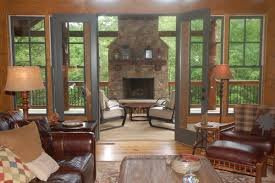 Sunroom With Fireplace Designs Converting A Screened Porch Into A 4 Season Room Is An Easy Way To