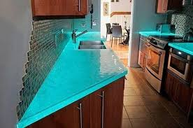 Small Picture Modern Glass Kitchen Countertop Ideas Latest Trends in Decorating