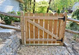 12 photos gallery of popular style of wood fence gate designs